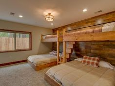 The kids will LOVE these bunk beds in this Lake Tahoe vacation rental! 28 Awesome Decor Ideas You Will Definitely Want To Save – The kids will LOVE these bunk beds in this Lake Tahoe vacation rental! Bunk Bed Rooms, Bunk Beds With Stairs, Cool Bunk Beds, Kids Bunk Beds, Cabin Bunk Beds, Bedrooms, Queen Bunk Beds, Home Bedroom, Bedroom Decor