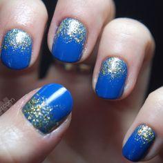 Royal blue + glitter. Love.