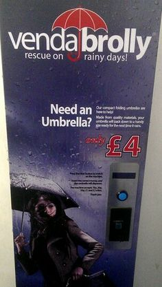 Brolly vending machines