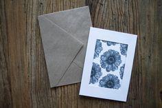 Flower pattern cute birthday card pencil by annmarireigstad
