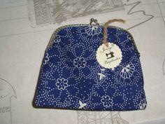 Joisys®  Kleinkram  Bügeltasche  Bauernstoff Blau von Joisys® Handmade  Taschen aller Art auf DaWanda.com