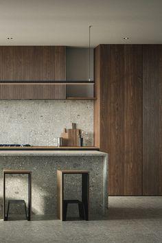 Kitchen Room Design, Modern Kitchen Design, Home Decor Kitchen, Interior Design Kitchen, Home Kitchens, Nordic Kitchen, Nordic Interior Design, Kitchen Industrial, Modern Design