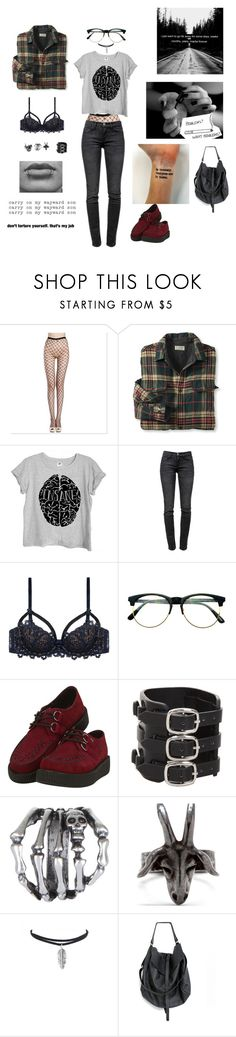"""Untitled #786"" by akts on Polyvore featuring Current/Elliott, Dita Von Teese, Retrò, T.U.K., Gathering Eye and Chris Habana"
