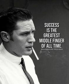 Positive Quotes : Success is the greatest middle finger of all time. - Hall Of Quotes Wise Quotes, Attitude Quotes, Great Quotes, Motivational Quotes, Funny Quotes, Inspirational Quotes, Gangster Quotes, Badass Quotes, Quotes By Famous People