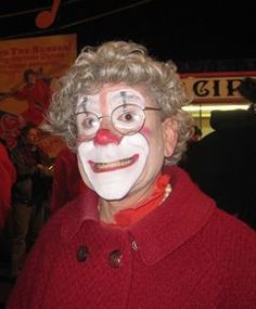 """Biography of Barry Lubin - """"Grandma"""" A member of the 1974 class of Ringling Brothers and Barnum & Bailey Clown College, he performed for 5 years with the Greatest Show on Earth. He also performed at the prestigious International Circus Festival of Monte Carlo in 1977. http://famousclowns.org/famous-clowns/barry-lubin-grandma/"""