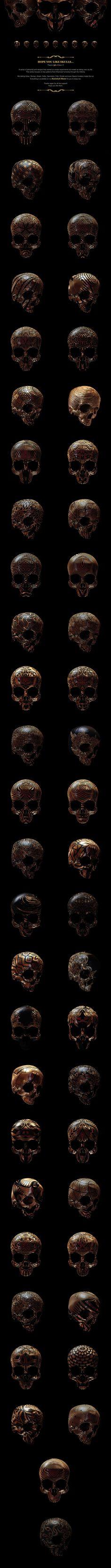 Hope you like skulls by Billy Bogiatzoglou