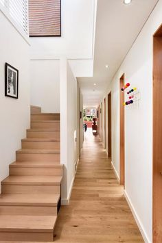 Modscape Sustainable Prefab Home in Elsternwick - Modscape Wooden Staircases, Wooden Stairs, Wooden Doors, Stairways, Prefabricated Houses, Prefab Homes, Signed Sealed Delivered, Melbourne House, House Inside