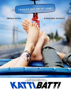 Bollywood Latest Upcoming Katti Batti Movie 2015 First Official New Poster Look Out. See Kangana Ranaut and Imran Khan First Poster of Katti Batti Film 2015.