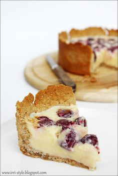Condensed milk and cherry cake