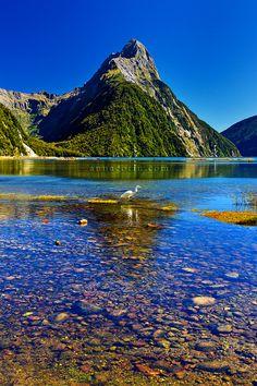 Mitre Peak, Milford Sound, South Island of New Zealand