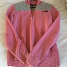 Vineyard Vines women's Shep shirt size small A Vineyard Vines pink and grey women's Shep shirt, size small. A few threads loose, but no other errors. Barely worn, many years of use ahead. Vineyard Vines Tops Sweatshirts & Hoodies