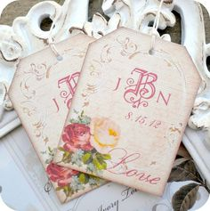 NEW  Personalized Romantic Vintage by LittlePaperFarmhouse on Etsy, $6.50