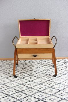 Mid century sewing box sewing box sewing table side table ...