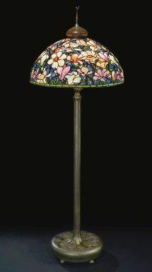 an important and rare Magnolia floor lamp-Tiffany Studios - Sotheby's