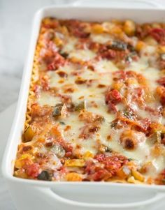 Vegetable Lasagna Recipe One slice of this, and you'll forget about the meat...maybe.