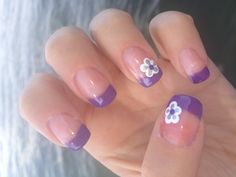 Purple French Tips!