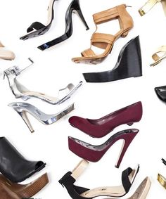 A new shoe brand makes it as easy to mix and match your shoes as you do your wardrobe — introducing OneClique interchangeable heels. Online Shopping Shoes, Buy Shoes Online, Formal Shoes, Casual Shoes, Interchangeable Heels, Tiffany Blue Nikes, Girls Heels, Nike Basketball Shoes, Wedge Boots