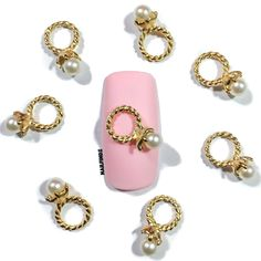 """Precious Pearl"" Nail Charm (4 pcs)"