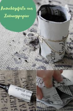 Anzuchtgefäße selber machen und dabei noch Müll vermeiden. Aus dem Zeitungspapier werden nämlich ab nun DIY Anzuchtgefäße.