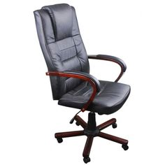 Luxury Office Chairs, Black Office Chair, Desk Chair, Swivel Chair, Sitting Positions, Comfortable Pillows, Executive Chair, Artificial Leather, At Home Store