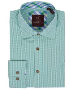 JW6616-Green (Covent) from James Tattersall Clothing