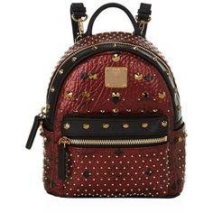 MCM Bebe Boo Backpack ($1,505) ❤ liked on Polyvore featuring bags, backpacks, mini crossbody bag, mcm, mini crossbody, convertible backpack and convertible crossbody backpack