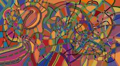 Andrea Mora title: Konnex 2 (2015) original size: 100 x 55 cm digital painting