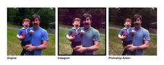 Los filtros de Instagram como Acciones para Photoshop #filters #action #PS