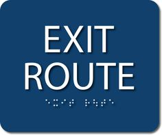 Exit Route ADA Sign – Miller Sign Corporation