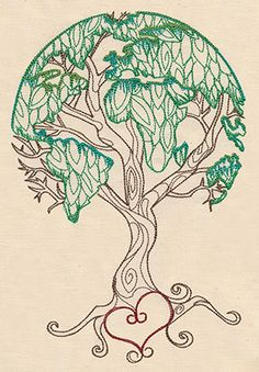 (Hand embroidery pattern available in the drop down menu.) Earth Tree   Urban Threads: Unique and Awesome Embroidery Designs