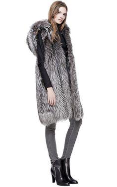 Silver Fox Hooded Vest by HELEN YARMAK INTERNATIONAL for Preorder on Moda Operandi