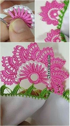 Crochet Doilies, Crochet Lace, Crochet Stitches, Crochet Patterns, Crochet Pants, Crochet Videos, Hair Pins, Hand Embroidery, Knitting