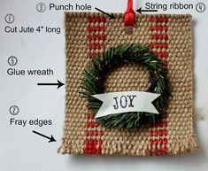 jute-webbing-farmhouse-wreath-ornament-1024x840 ~ Adorable ornament by Adirondack Girl @Heart