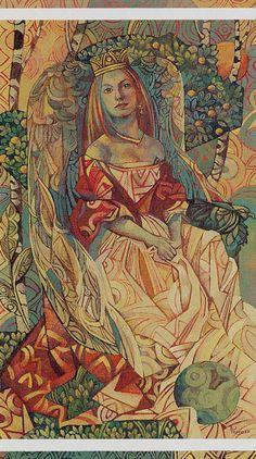 III - L'impératrice - Tarot cristal par Elisabetta Trevisan