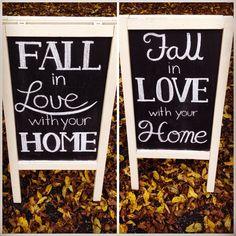 Fall in love with your home scriptwork and Sandwich board from Dayna Vago Designs Sandwich Board, Chalkboard Signs, Chalk Board, Art Quotes, Boards, Fall, Design, Planks, Autumn