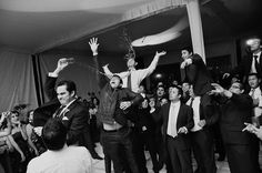 At first this looked like a garter toss, but there is no garter to be seen, just a glass of water. What would an optimist and pessimist say about that? Photo from Martin Muriel of Querétaro, Mexico. Surprise Surprise, Garter Toss, Water Glass, Love To Meet, Wedding Crafts, Documentary Photography, Daily Photo, Groomsmen, Places To Travel