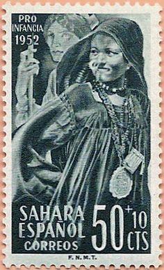 Sello Sáhara Occidental, Pro Infancia 1952 - Portal Fuenterrebollo