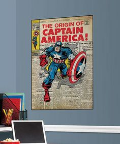Take a look at this Captain America #109 Peel & Stick Comic Cover Wall Decal by Marvel on #zulily today!