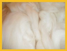 8 oz Soft White Mill End Wool Roving by Dreamcrafter on Etsy