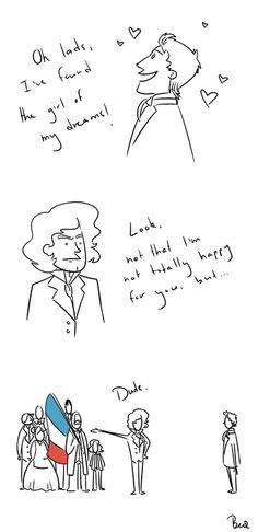 Priorities, Marius. Ehehehe, Enjolras is having NONE OF IT.