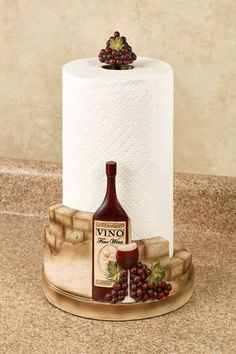 Vino Italiano Wine and Grapes Paper Towel Holder. Vino Italiano Wine and Grapes Paper Towel Holder. Wine Theme Kitchen, Boho Kitchen, Kitchen Decor Themes, Shabby Chic Kitchen, Home Decor Kitchen, Rustic Kitchen, Kitchen Ideas, Kitchen Design, Kitchen Layouts