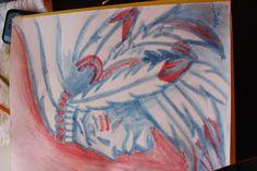 made by Mary Lane Barnes. chalk on bristol board