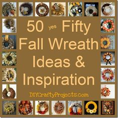 50 yes Fifty Fall Wreath Ideas  Inspiration