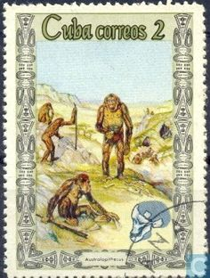 Postage Stamps - Cuba [CUB] - Origin of man Cuba, Anthropology, Postage Stamps, Archaeology, Vintage World Maps, The Originals, Painting, Culture, Collections