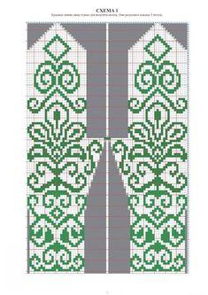 Photo Crochet Mittens Free Pattern, Crochet Gloves, Knit Mittens, Knit Or Crochet, Knitting Socks, Mitten Gloves, Knitted Hats, Knitting Charts, Knitting Patterns