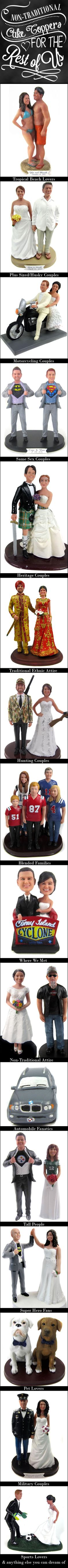 Let Bobblegr.am create a custom wedding cake topper that not only looks like you but reflects what makes your love special.