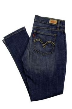 Levis Jeans 524 Too Superlow Skinny Dark Blue Stretch Juniors Denim Pants New