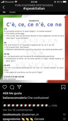 Italian Verbs, Italian Grammar, Italian Vocabulary, Italian Phrases, Italian Language, Vocabulary Words, French Language, Korean Language, Italian Lessons