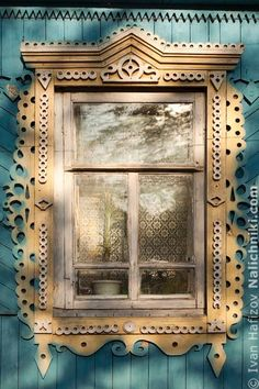 """Russian windows platband """"Nalichnik"""" by ivan. Wooden Architecture, Russian Architecture, Architecture Details, Through The Window, Through The Looking Glass, Arched Windows, Windows And Doors, Vintage Windows, Window View"""