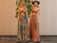 Lirio Boho outfit by laupipi for The Sims 4 Source by outfits Boho Outfits, Dress Outfits, Sims 4 Outfits, Country Outfits, Dress Shoes, Fashion Outfits, The Sims 4 Pc, Sims Cc, Sims 4 Dresses